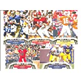 2014 Upper Deck Football Series Complete Mint Basic 50 Card Hand Collated Set with Hall of Famers and Stars Pictured in Their College Uniform Including Peyton Manning Joe Montana Andrew Luck and More