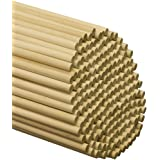 "Wooden Dowel Rods – 3/8"" x 12"" Unfinished Hardwood Sticks – For Crafts and DIY'ers – 25 Pieces – Woodpecker Crafts"