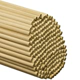 Wooden Dowel Rods - 3/8 x 48 Inch Unfinished