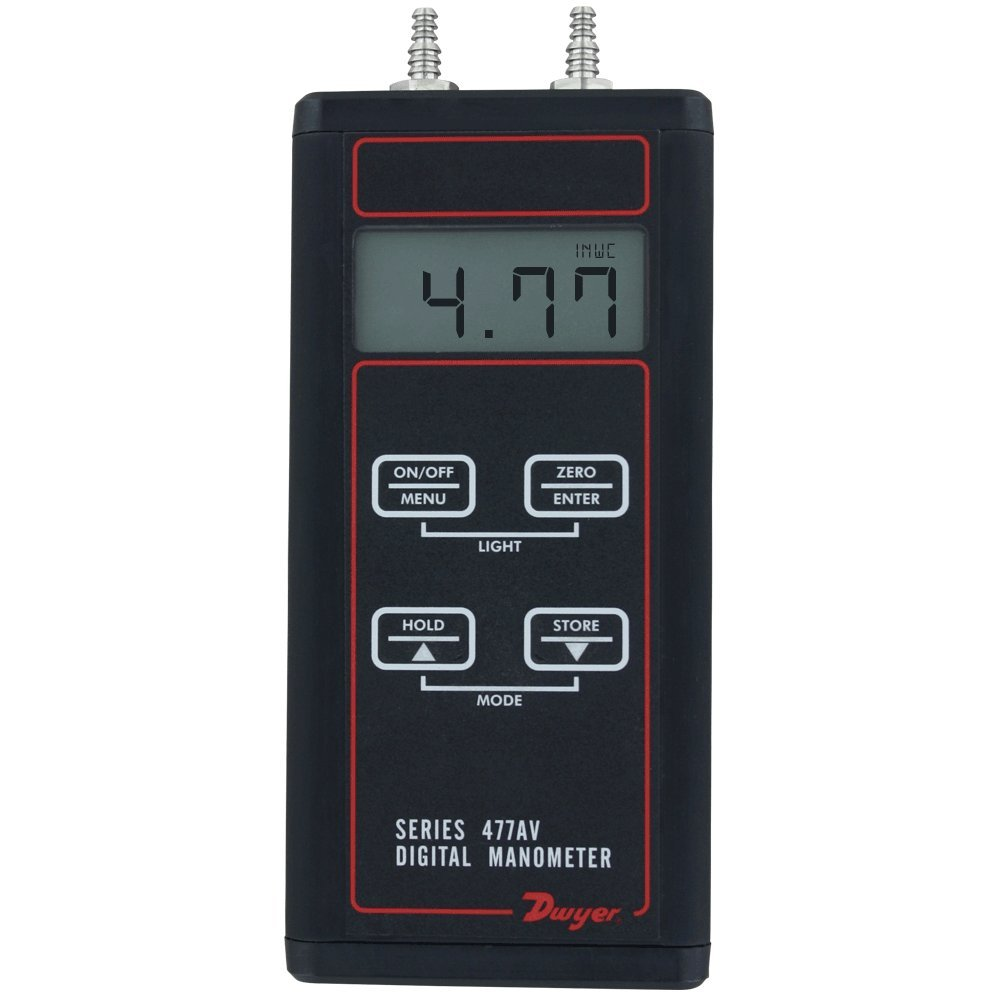 Dwyer 477AV Handheld Digital Manometer Air Velocity//Flow Modes 0-20 psi 477AV-5