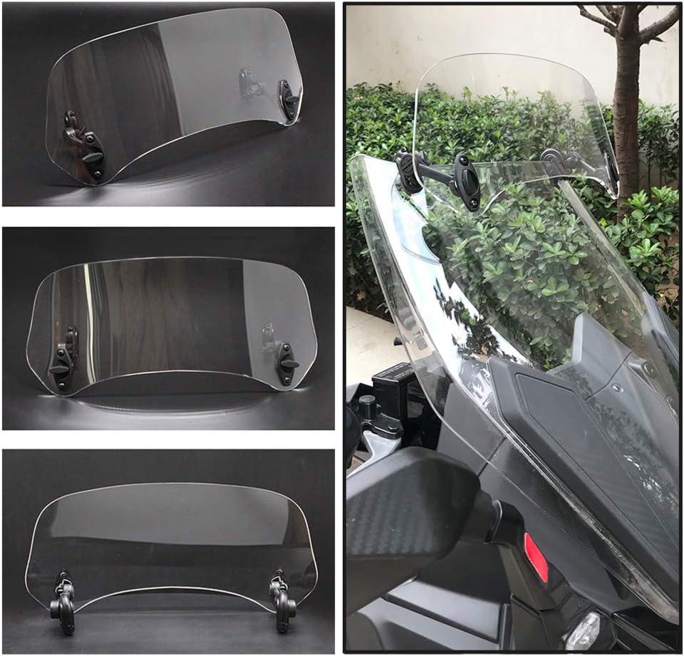 Motorcycle Windscreen Universal Motorcycle Modified Windscreen Windshield Spoiler Air Deflector Smoked