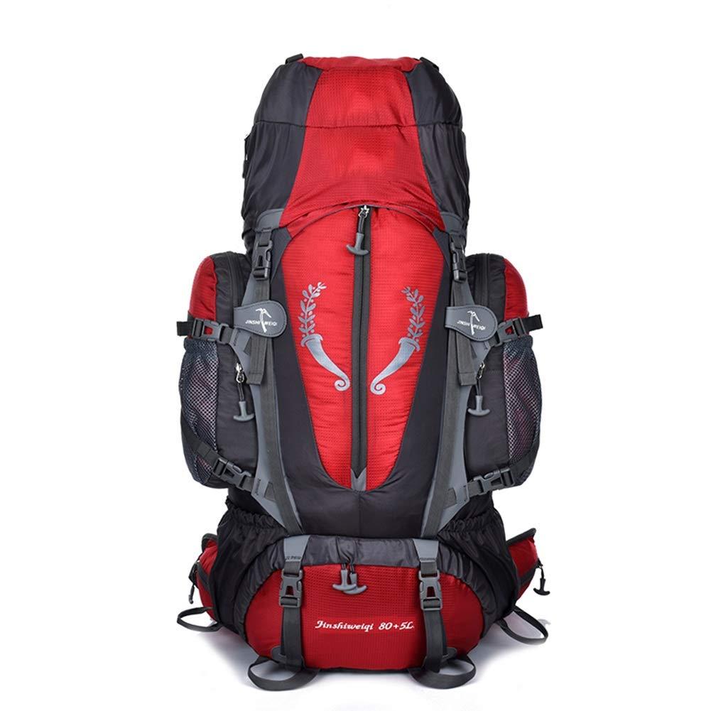 パッケージ バックパック レジャーバックパック 85 L大型トレッキングリュックサックメンズ防水アウトドアハイキングキャンプ内部フレームバックパック ZHAOYONGLI (色 : Red, サイズ さいず : 85L) 85L Red B07PPSDS11