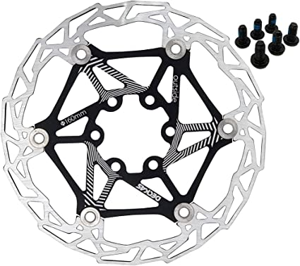 DECKAS MTB Mountain bike Bicycle Brake Disc Floating Rotor 160mm 6 Bolt Rotors