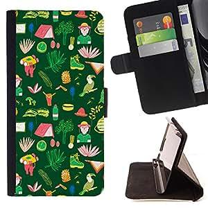 King Case - FOR Samsung Galaxy S5 Mini, SM-G800 - why you're here - Prima caja de la PU billetera de cuero con ranuras para tarjetas, efectivo Compartimiento desmontable y correa para la mu?eca
