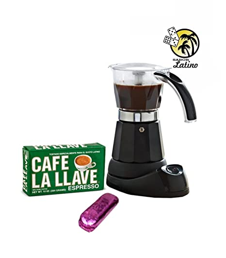 Electric Cuban Coffee Espresso Maker 3 To 6 Cups 1pack Bustelo 10 Oz FREE
