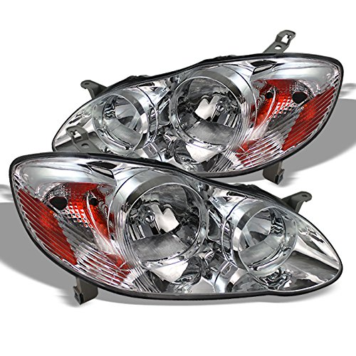 For 03-08 Toyota Corolla Headlights Front Head Lamps Direct Replacement Pair Left + Right Completed Set