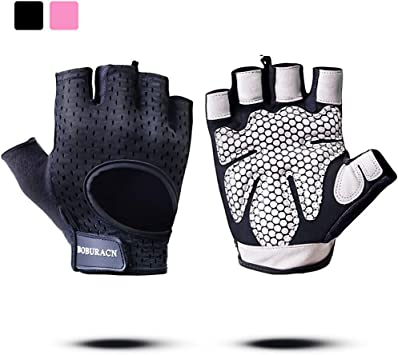 WomenMen Fitness Weight Lifting Workout Training Gym Exercise WristWrap Gloves L