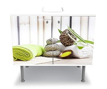 wandmotiv24 Badunterschrank Toallas y Sal, Sauna Diseño baño Armario M0961 Pegar Completa gabinete de la vanidad: Amazon.es: Hogar