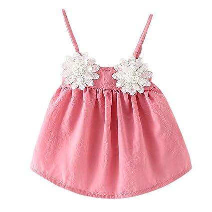 JYJM - Vestido de manga corta para niñas de 6 a 18 meses, diseño de