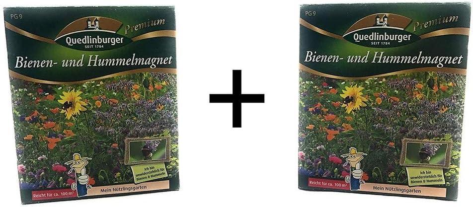 2 paquete | Abejas y abejorro imán | Paquete doble | Mezcla de flores silvestres | Prado de flores | a partir de ahora el precio de promoción de invierno