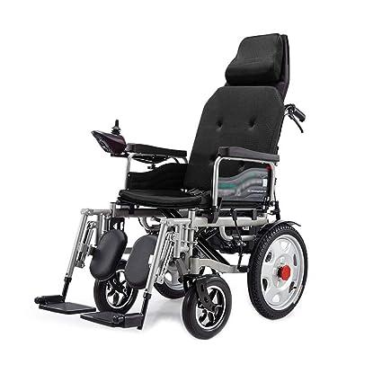 Silla de ruedas Silla de ruedas eléctrica, plegables silla de ruedas de cuidado de cuatro
