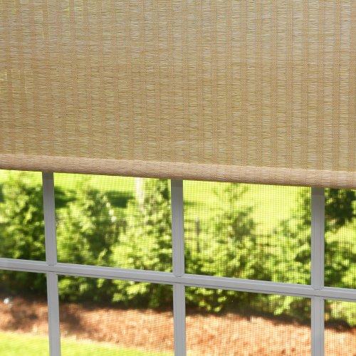 Best Home Fashion Premium Single Roller Window Shade – Beige – 27″W x 64″L