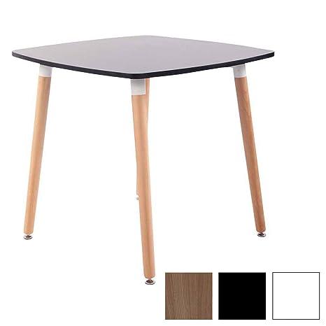 CLP Tavolo Quadrato da Cucina Viborg in Legno – Tavolino da Pranzo Moderno  Design in MDF e Legno di Faggio – Tavolino Bistrot Quadrato Piedini ...