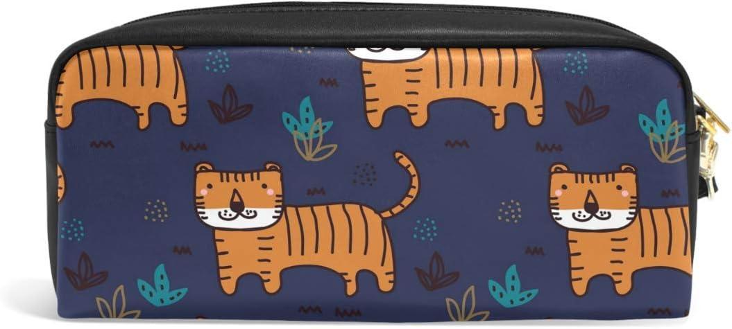 Tiger - Estuche para lápices con cremallera, color azul marino: Amazon.es: Oficina y papelería