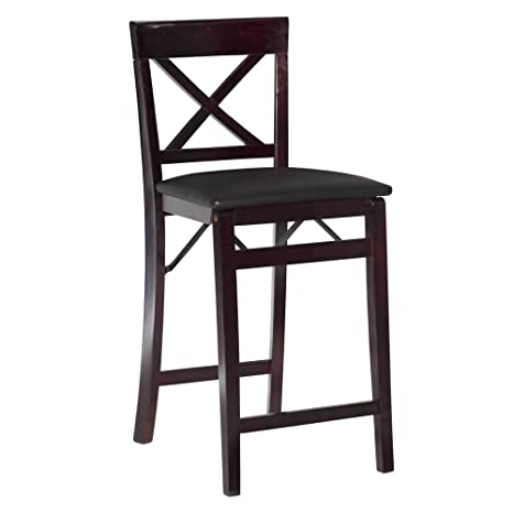 Phenomenal Linon Triena X Back Folding Counter Stool Brown Spiritservingveterans Wood Chair Design Ideas Spiritservingveteransorg