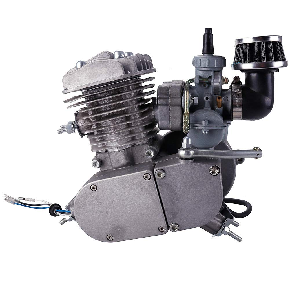 80cc 2-Stroke Engine Only For Motorized Mountain Bicycle 26 28 Road Bike Black