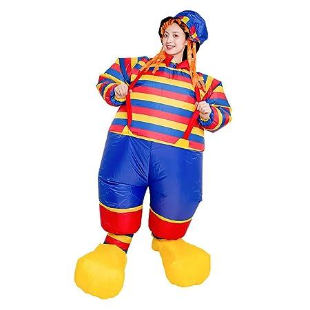 wenjuersty Disfraz de Payaso Inflable de Halloween para ...
