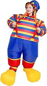 Disfraz de payaso inflable para adultos, diseño de rayas de ...