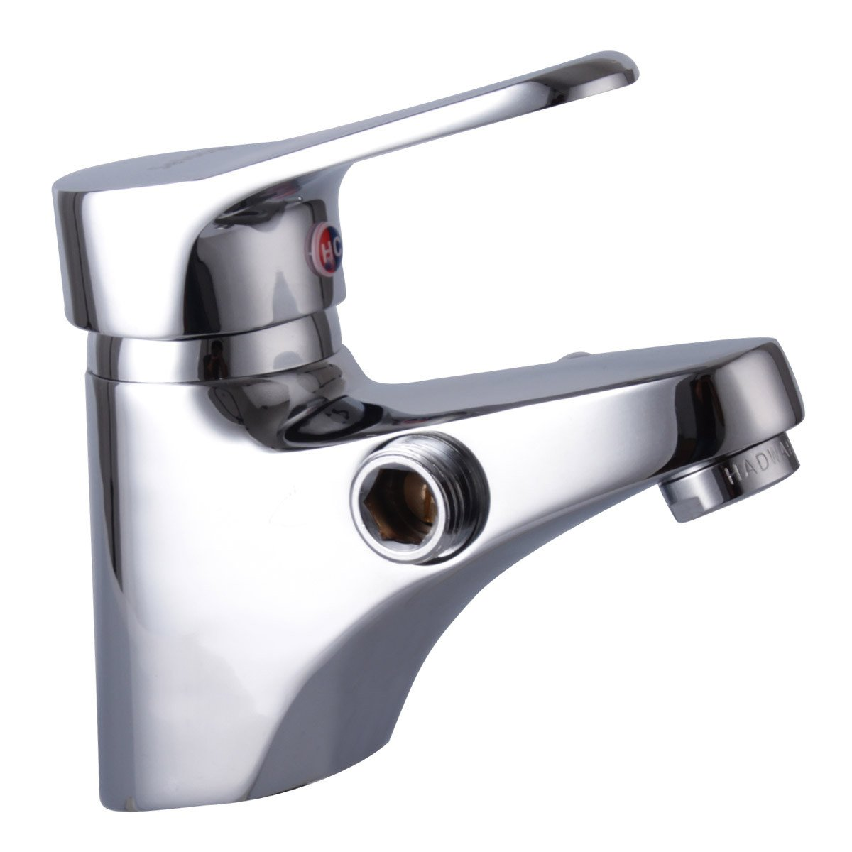 Furesnts Pure Copper Single Hole Hot and Cold Water Basin Taps Double Wash Basin Shower Faucet Bathroom Sink Taps,(Standard G 1/2 universal hose ports)