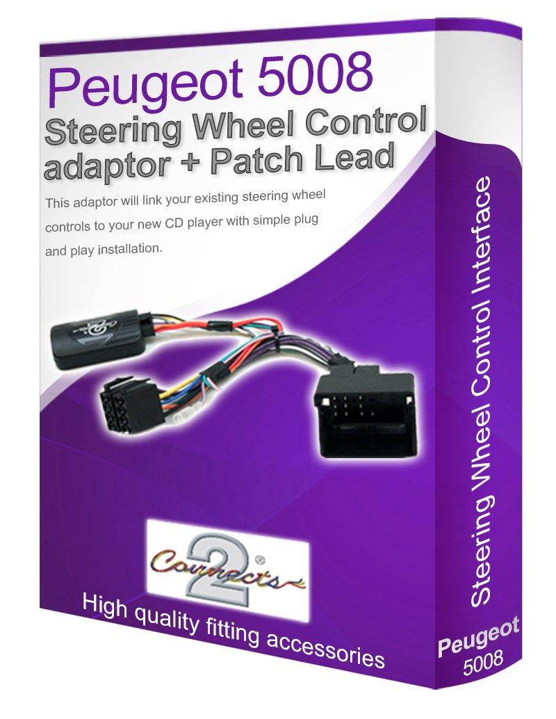 Connectez votre Volant de commande au volant les boutons Peugeot 5008/C/âble st/ér/éo de voiture Adaptateur