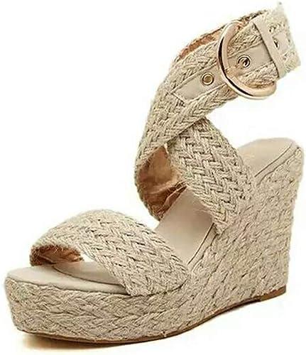 Ouvert Talon High Chaussures Forme Compensées Sandales Heels Bout Été Sandales Tongs Sandales Sandales Sandales Plate Mode Compensé Sunnywill Femme sBdCxQthr
