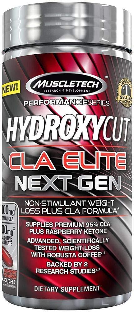 MuscleTech Hydroxycut CLA Elite Next Gen, Non Stimulant Weight Loss Plus CLA Formula, 100 Count by MuscleTech