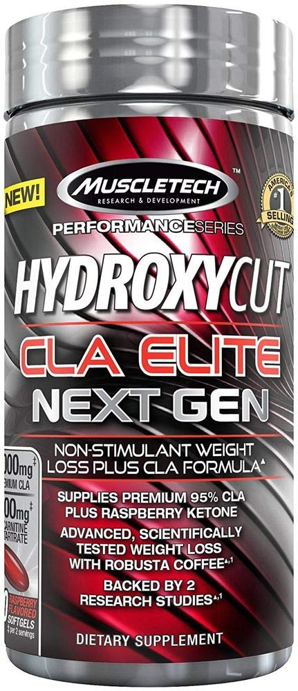 MuscleTech Hydroxycut CLA Elite Next Gen, Non Stimulant Weight Loss Plus CLA Formula, 100 Count