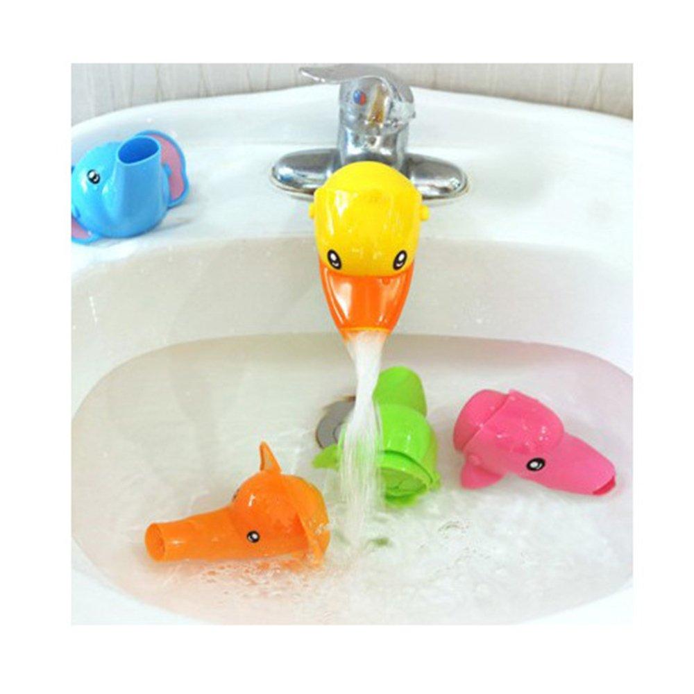 Isuper rubinetto Extender, Rubinetto prolunga figura in cartone animato per bambini mani lavaggio bagno accessori (Anatra)