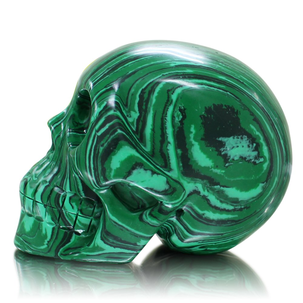 Amazon.com: Large 5 inch Natural Quartz Crystal Skull, Collectible ...