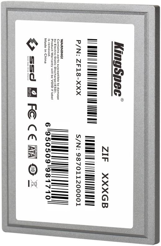 Kingspec 64 GB 1,8 ZIF 40 Pines de Estado sólido SSD Disco SMI ...