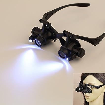 48cfada385af Amazon.com : 10/15/20/25X LED Eye Jeweler Watch Repair Magnifying Glasses  Magnifier Loupe USA : Everything Else