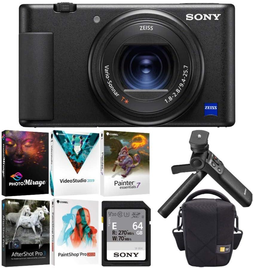 Sony ZV-1 Digital Camera with Vlogger Accessory Kit (4 Items)