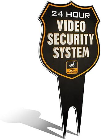 Amazon.com: Cartel de metal para patio, sistema de seguridad ...