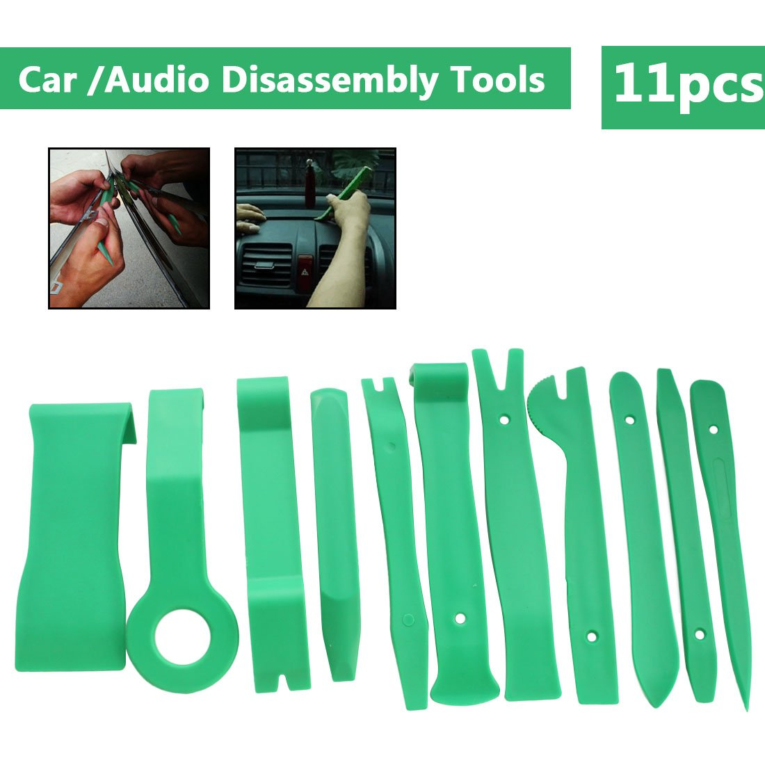 Topsame 11Pcs Auto Car Radio Panel Interior Door Clip Panel Pry Tool Trim Dashboard Removal Opening Tool Set DIY Car Repair Tool Kit
