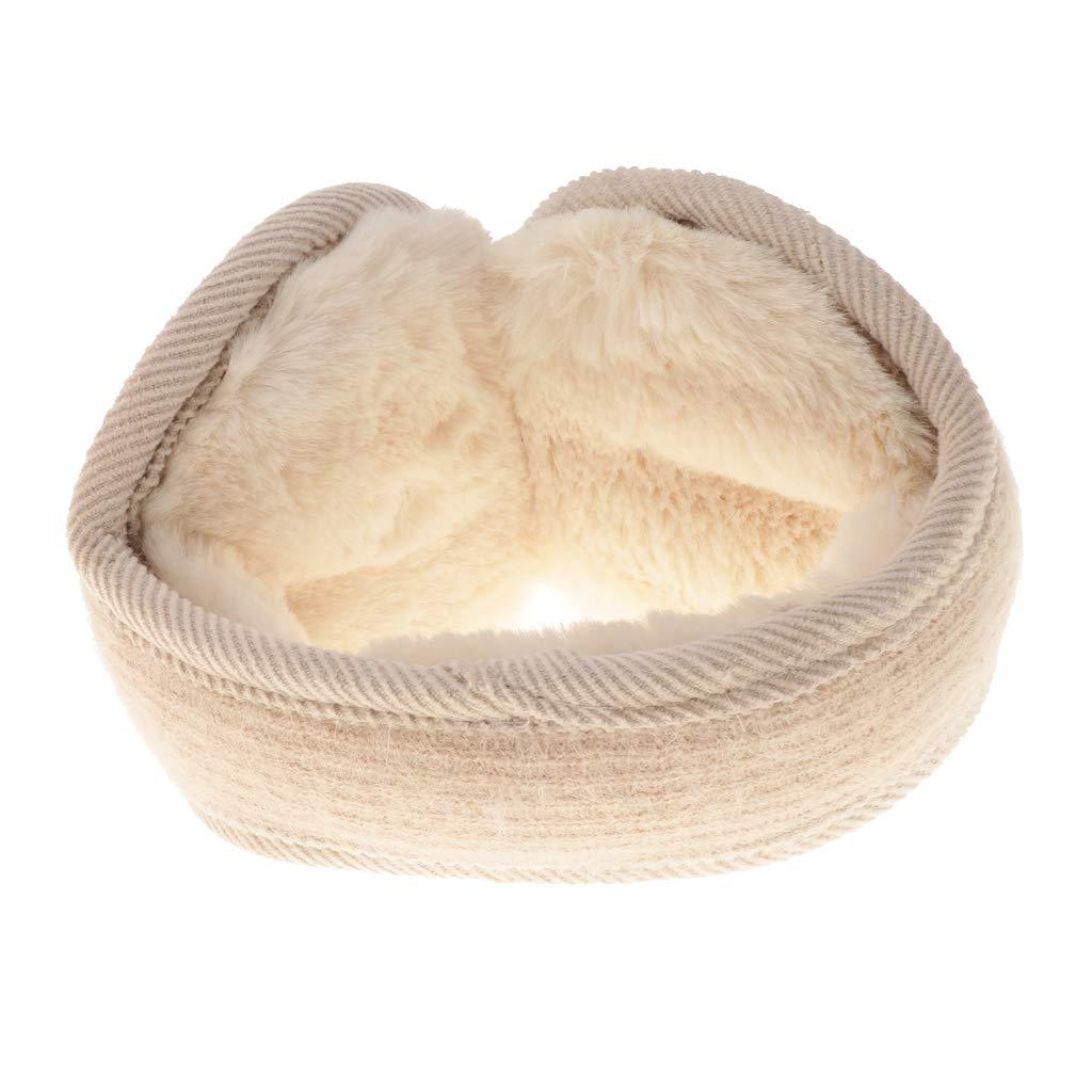 Baoblaze Damen Herren Faltbare Ohrenschützer Plüsch Ohrenwärmer Earmuffs Ear Muffs Mädchen Winter Geschenk