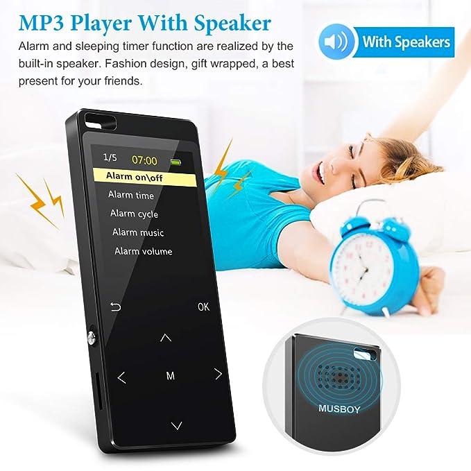 Reproductor de MP3 de 32 GB con Bluetooth 4.2, grabación directa ...