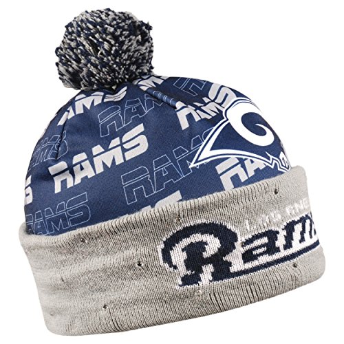 Forever Collectibles Los Angeles Rams Light Up Printed Beanie