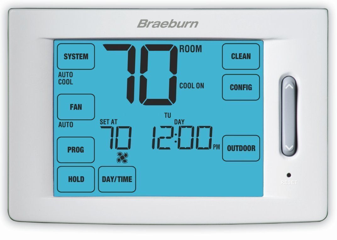 Braeburn 6100 Touchscreen Hybrid Universal 7, 5-2 Day or Non-Programmable Thermostat