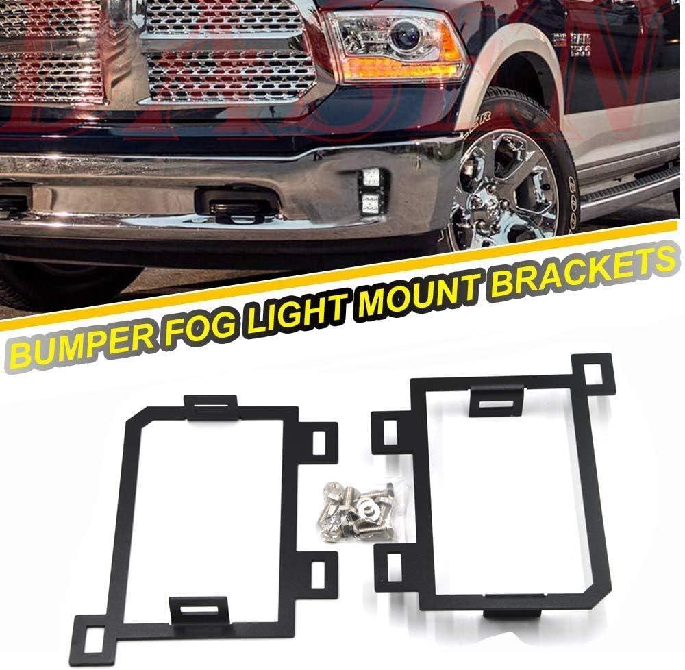 Front Bumper Blk Fog Lamp Mount Bracket Bolt For Dodge Ram 1500 2013-18 w// Hole