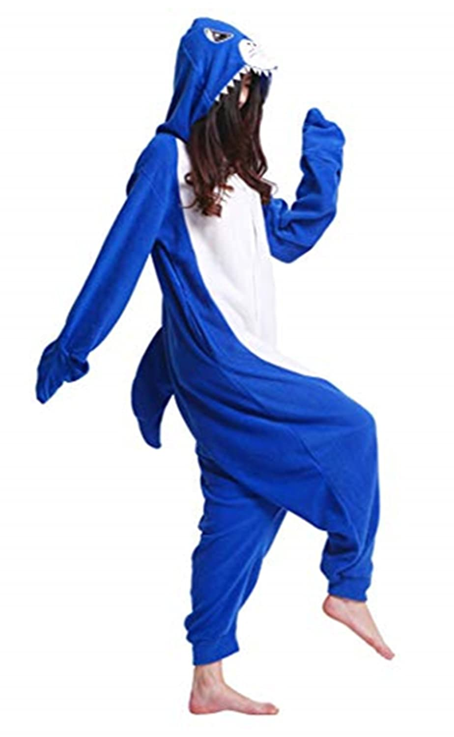 Songsongbear Halloween Animal Cosplay Costume Shark Adult Teens Pajamas Onesie