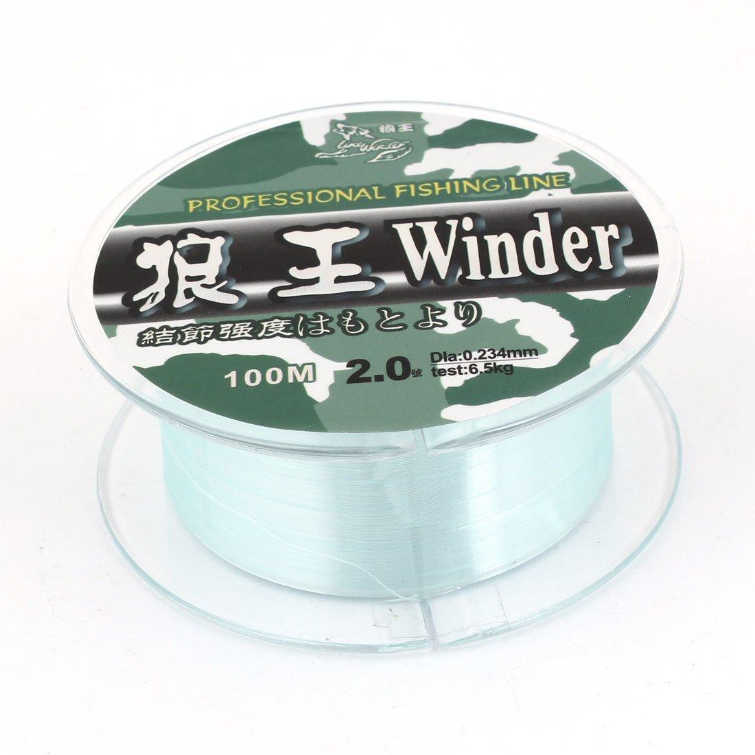 Como 2.0 # Vert Nylon Fil 0.234mm Dia 6,5 ??kg Ligne de pêche Spool 100M