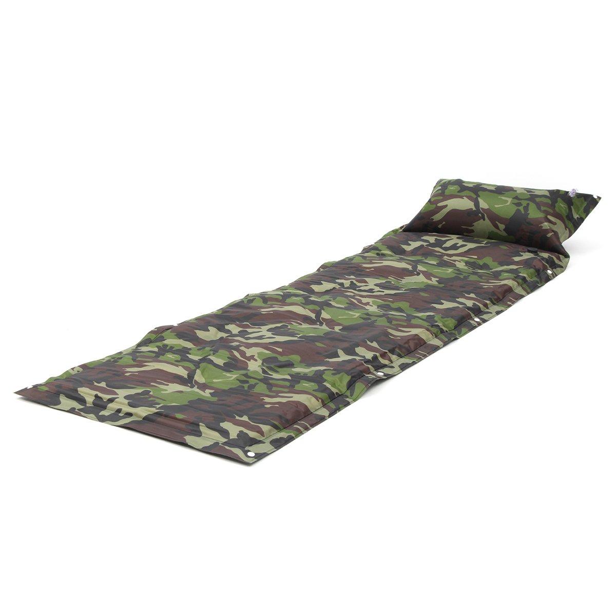 Kenthia Single selbstaufblasende Isomatte aufblasbar Air Matratze Sleeping Pad mit Kopfkissen
