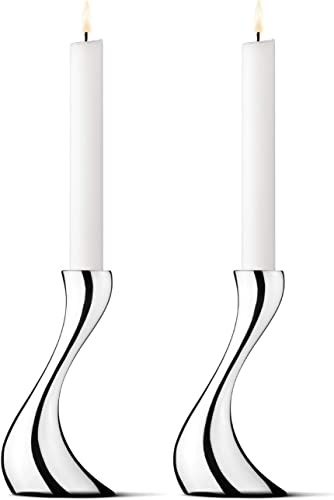 Georg Jensen Cobra Small Candle Holder Set of 2