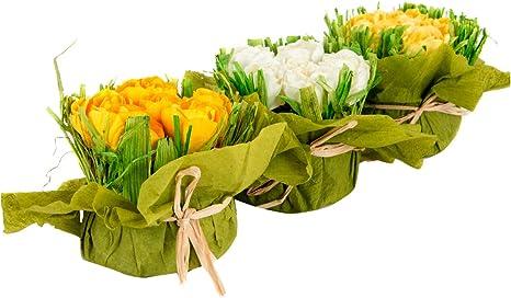 Lb H F 3 Stück Künstlicher Strauss Kunstblume Blumenstrauss Blumen Frühling Blumenarrangement Küche Haushalt