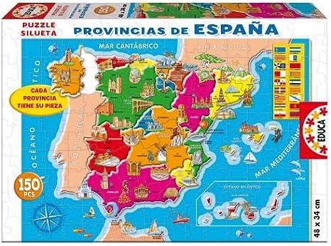 Educa- Provincias España Puzzle infantil de 150 piezas, a partir de 6 años (14870)
