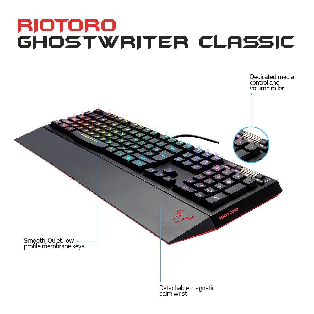 Amazon.com: RIOTORO Ghostwriter Classic Rubberdome Membrane Keyboard: Computers & Accessories
