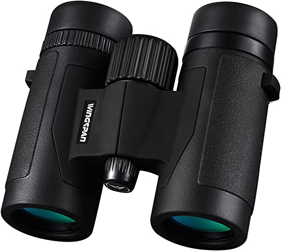 Wingspan Optics FieldView 8X32 Compact Binoculars for Bird Watching. Lightweight and Compact for Hours of Bright