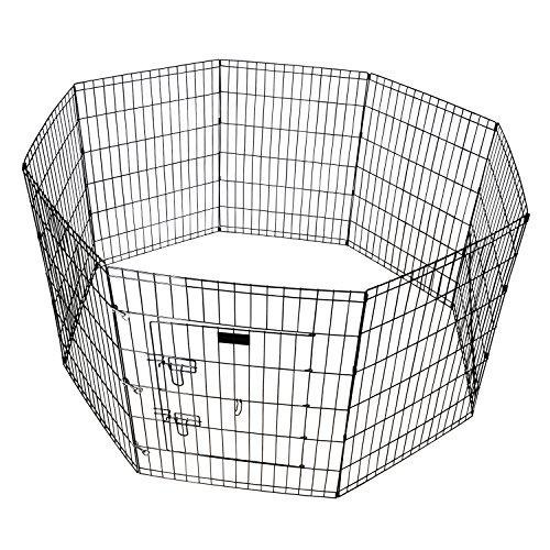 Pet Playpen 36 Inch Tall E-coat Iron Wire Folding Exercise Yard Fence...