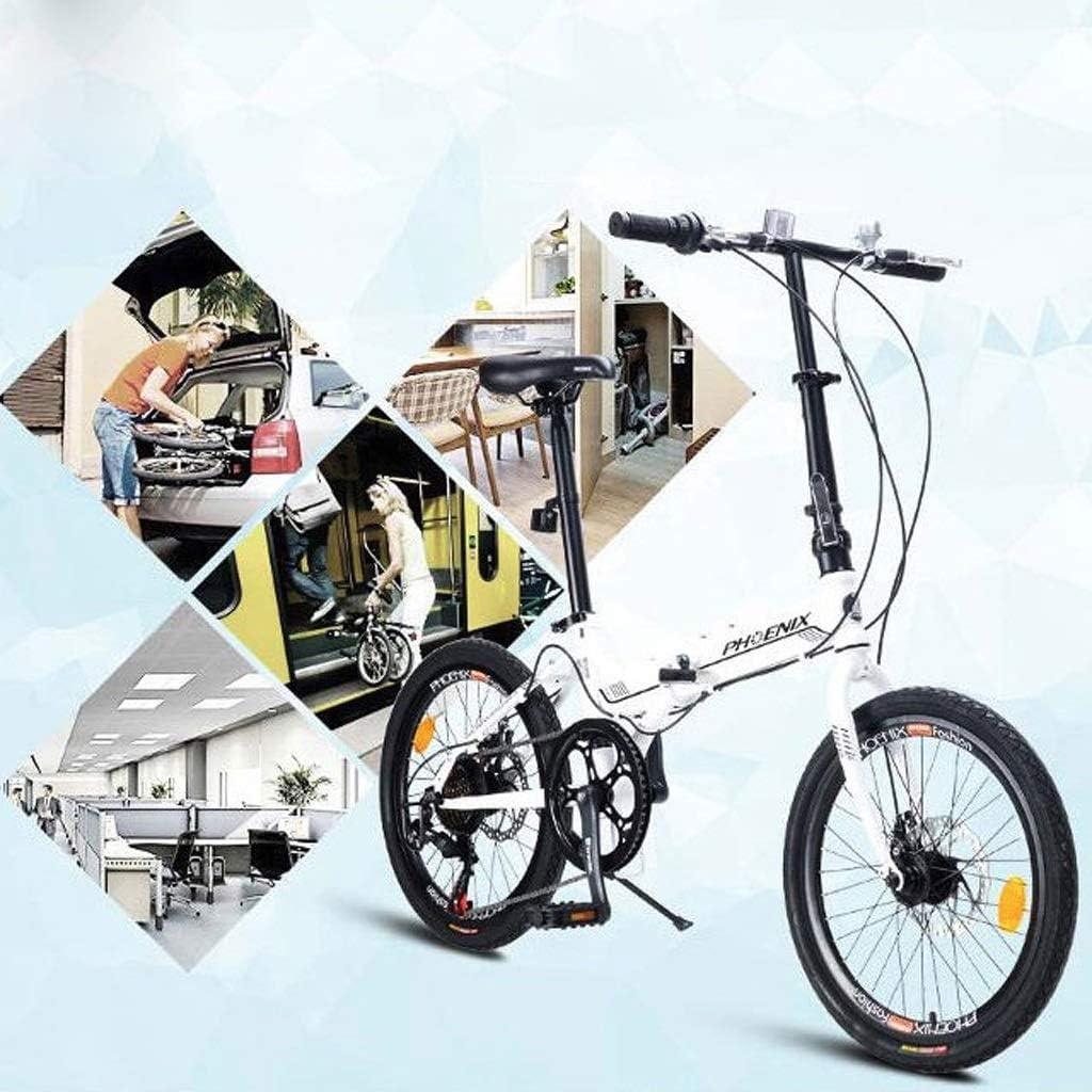 Bicicleta Plegable de 20 Pulgadas, Hombres de 7 velocidades y Estudiantes Femeninos, Bicicleta para Adultos Ultraligera, Bicicleta Plegable para niños portátiles A ++: Amazon.es: Deportes y aire libre