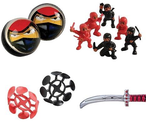 Amazon.com: Kid Fun Ninja Toy Party Favor Supplies Set for ...